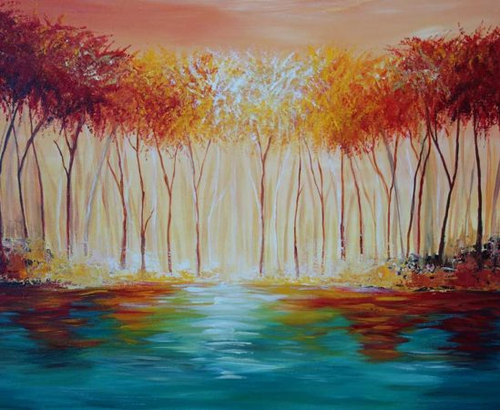 Myers-Lake-Landscape-Painting-close-up-2
