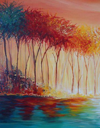 Myers-Lake-Landscape-Painting-close-up