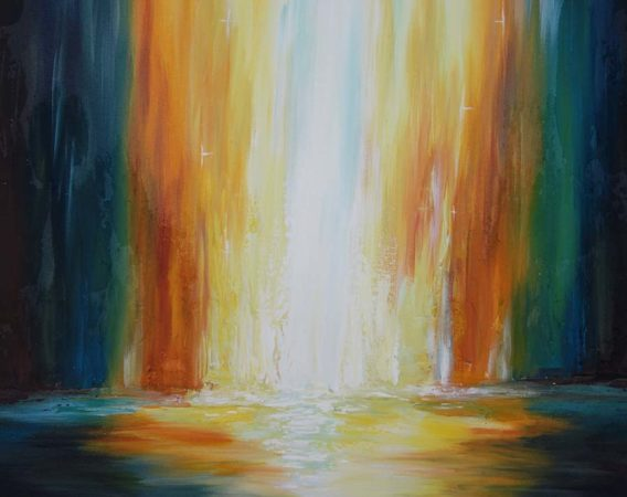 Abstract-Waterfall-Painting-Into-the-Light-Liz-W-Abstract-Painting-close-up