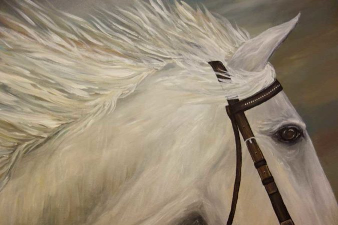White-Horse-Painting-Liz-W-Figure-Painting-close-up-2
