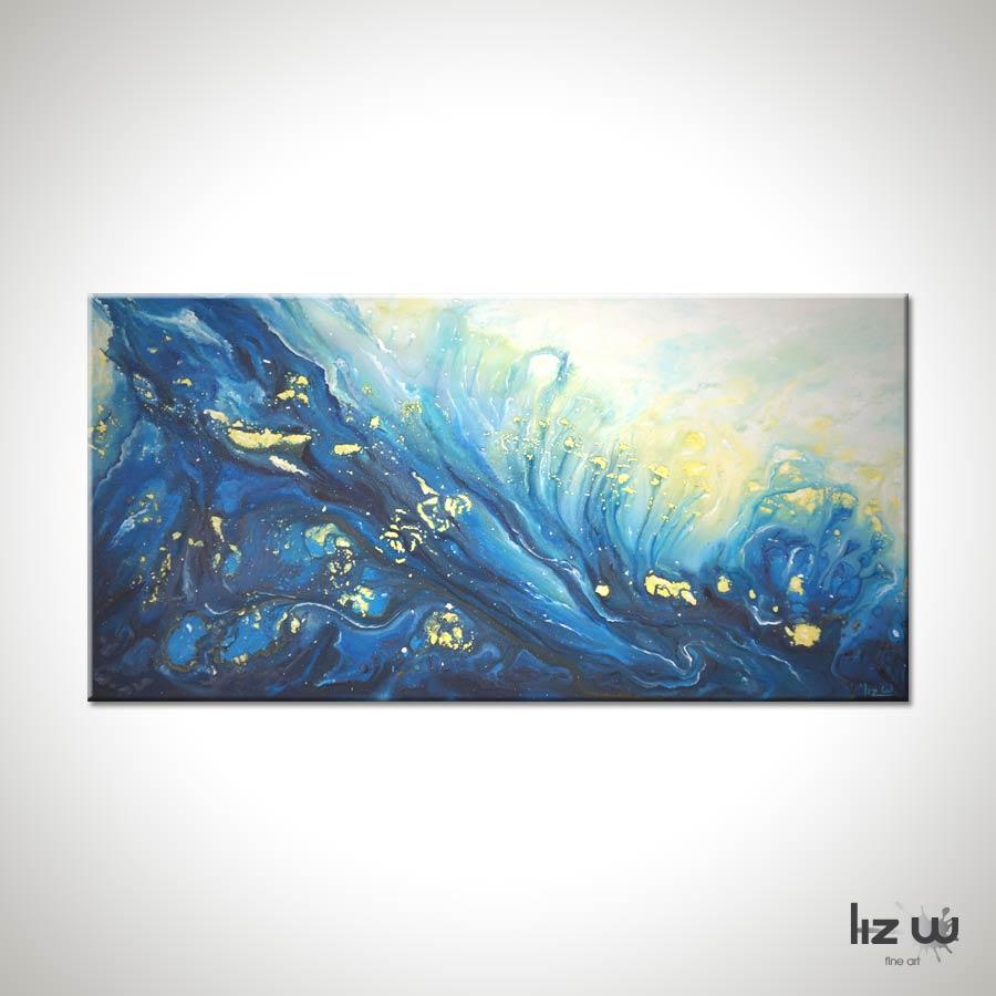 Ocean Spray Abstract Ocean Painting Liz W Fine Art