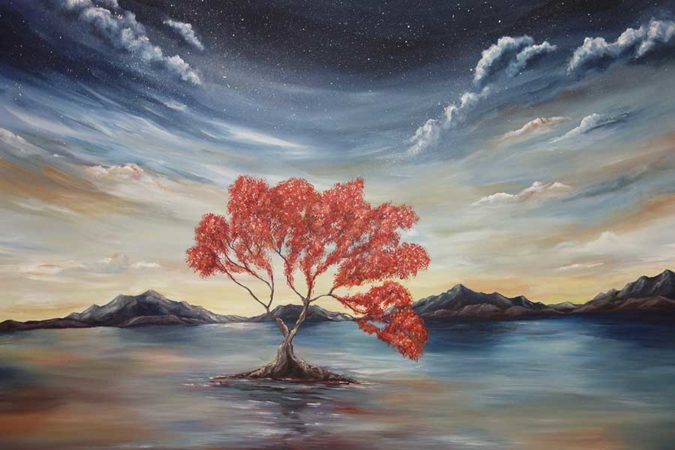 Red-Wanaka-Tree-Painting-Liz-W-detail