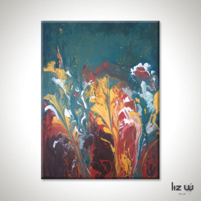 Golden-Delight-Painting-Abstract-Floral-Liz-W
