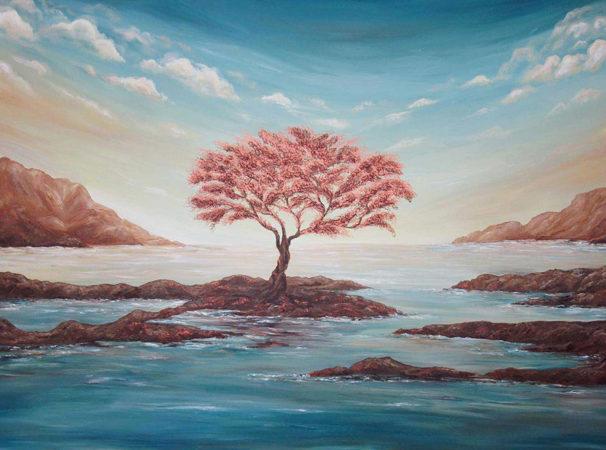 The-Copper-Tree-Painting-Seascape-Liz-W-detail