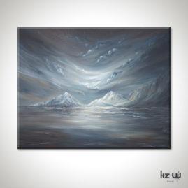 Nightfall-Over-The-Mountains-Painting-Liz-W