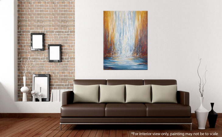 Blowing-Rock-Falls-Abstract-Waterfall-Painting-Liz-W