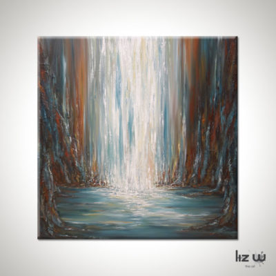Prism Falls Waterfall Painting