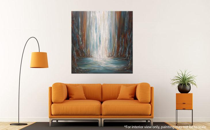 Prism Falls Waterfall Painting