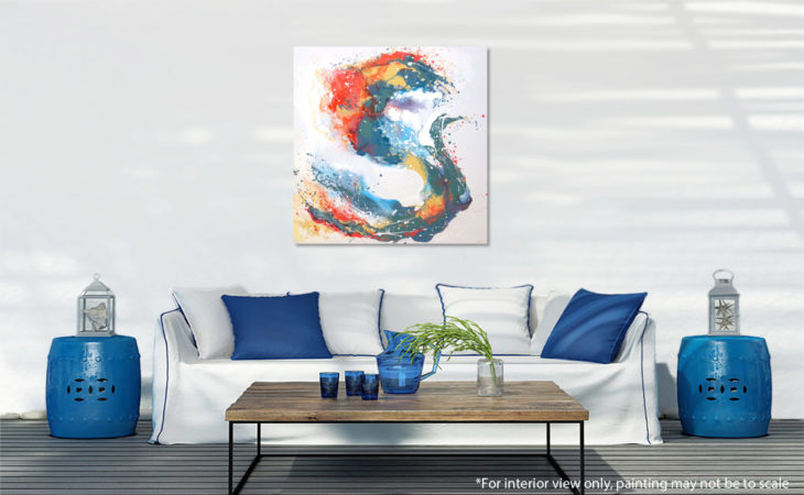 Festive Spring Abstract painting Liz W