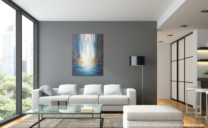 Golden-Falls-Abstract-painting